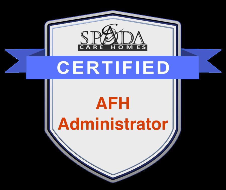 Sh Certified Admin Spada Care Homes